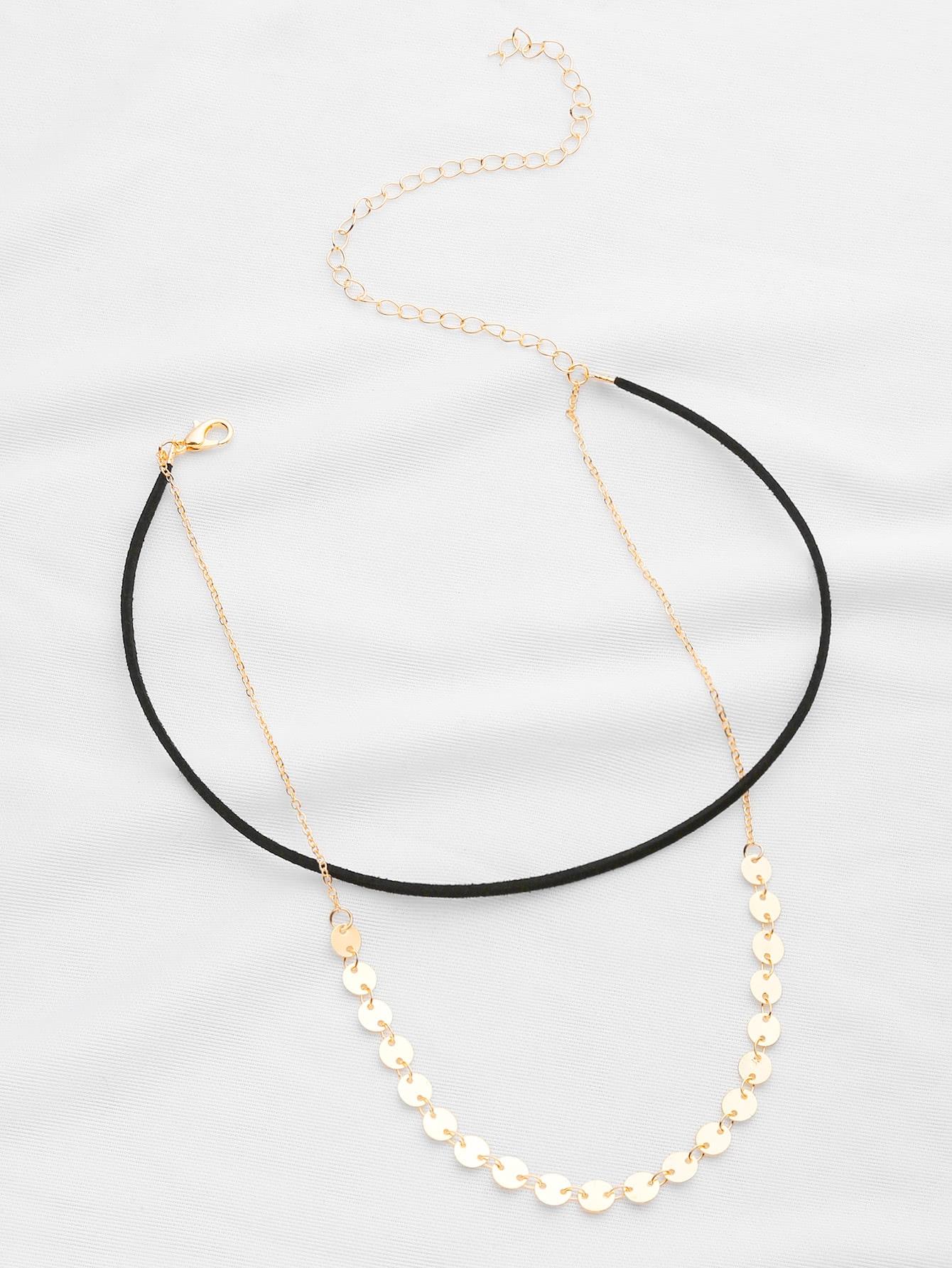 Фото Sequin Decorated Double Layer Necklace. Купить с доставкой