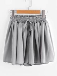 Falda-pantalón de fruncido con cordón