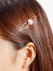 Clip di capelli in perle Faux 1pcs