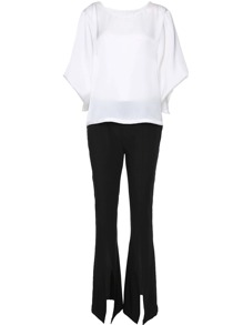 Bat Sleeve Top With Split Pants
