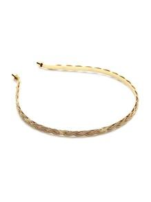 Metallic Braided Headband