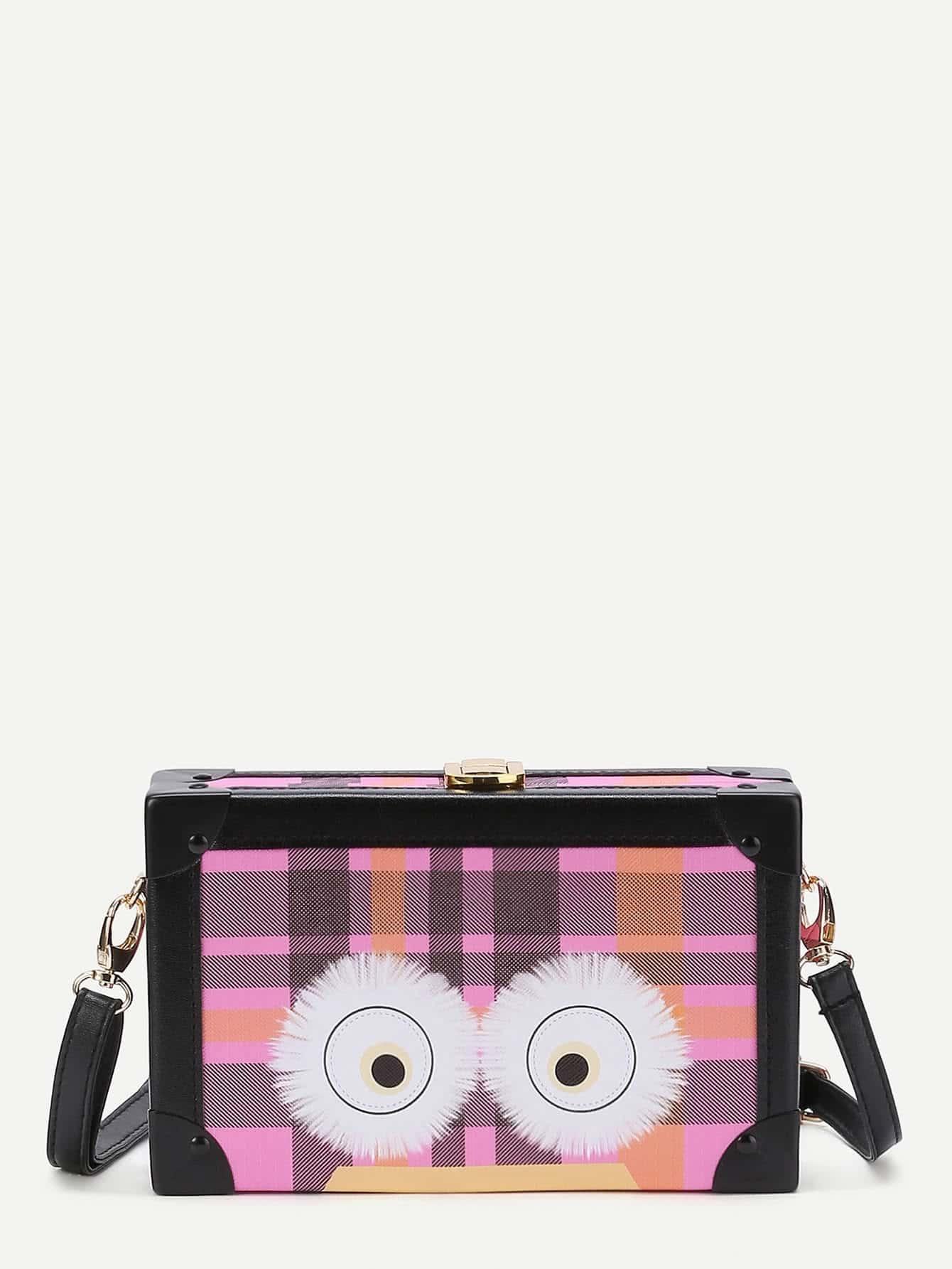 Фото Grid Eye Print Crossbody Bag. Купить с доставкой