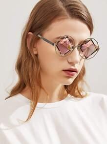 Occhiali da sole con lente a specchio