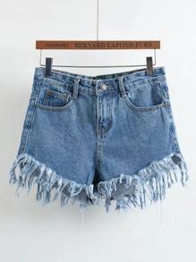 Shorts deshilachados en denim