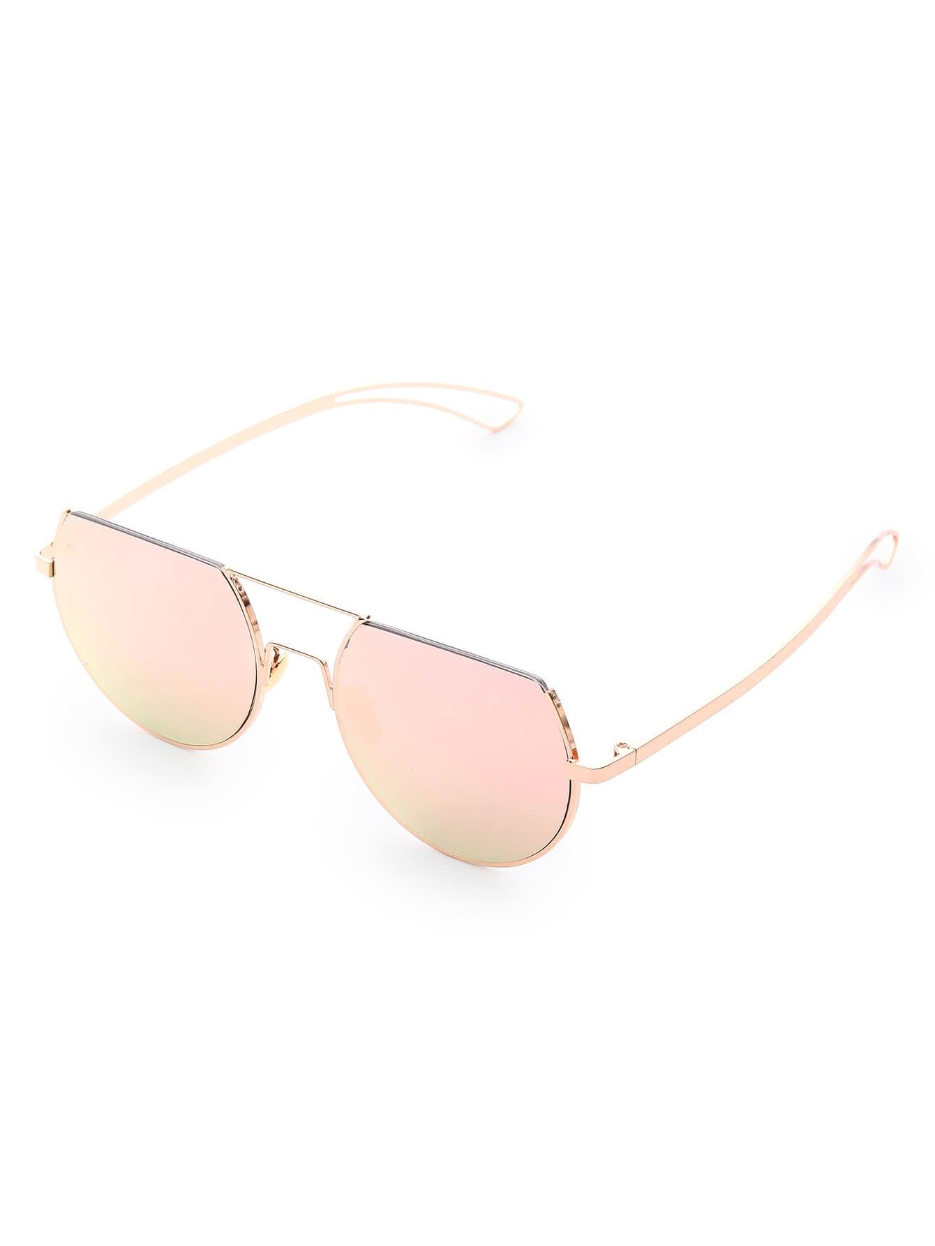 Фото Flat Top Double Bridge Round Sunglasses. Купить с доставкой