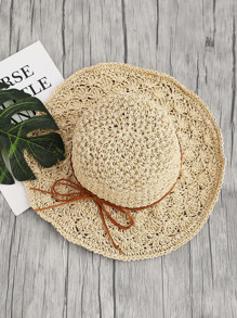 Bow Tie Straw Beach Hat