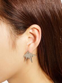 Boucles d'oreilles en forme de géométrie