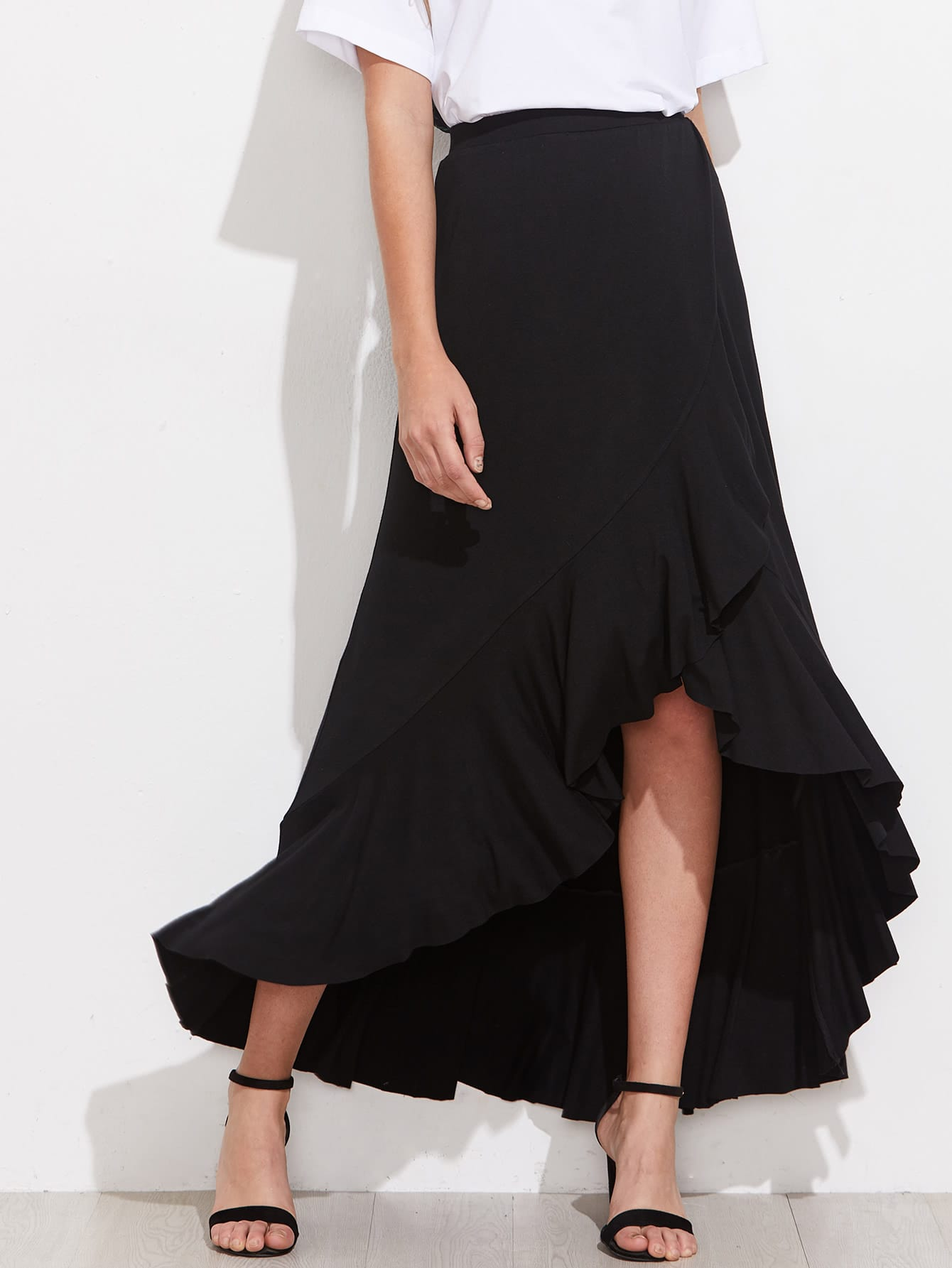 Фото Frill Trim Overlap Skirt. Купить с доставкой