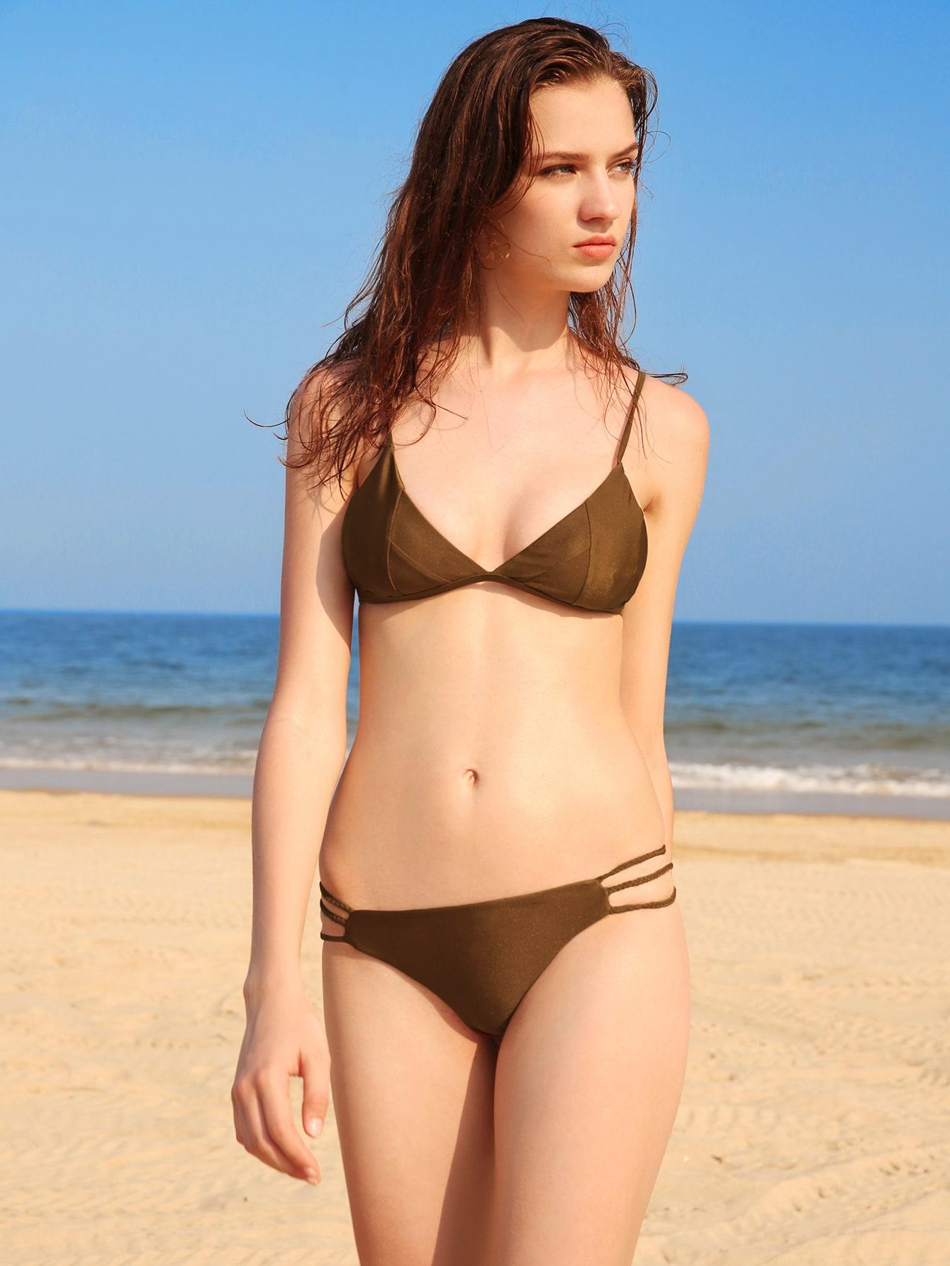 Фото Braided Strap Seam Bikini Set. Купить с доставкой