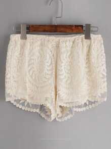 Shorts con bordado de malla