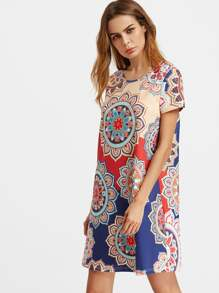 Allover Mandala Print Dress