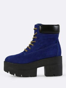 Chunky Platform Ankle Boot COBALT BLUE
