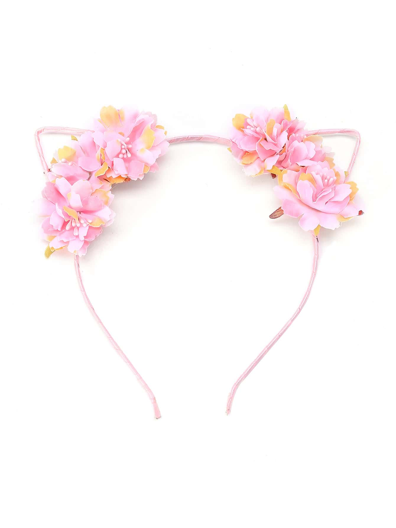 Фото Flower Embellished Cat Ear Headband. Купить с доставкой