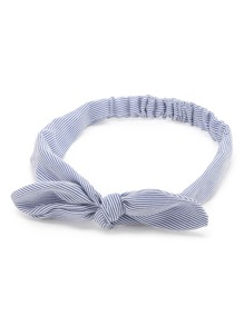 Pinstriped Bow Headband