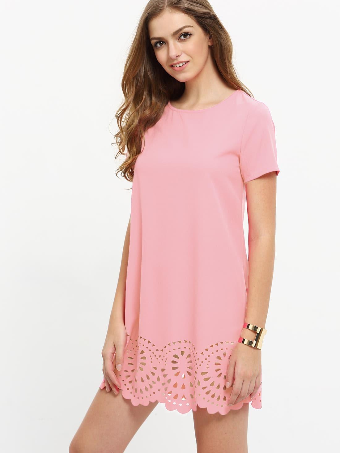 Фото Laser Cut Scallop Edge Dress. Купить с доставкой