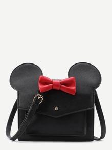 Sac porté épaule en PU avec Mickey