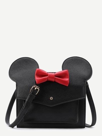 Bolso de hombro de pu con diseño de Mickey