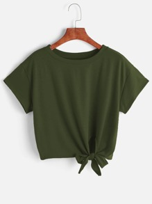 T-Shirt mit Seiten Knoten