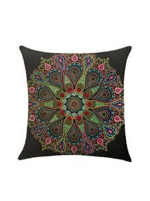 Retro Flower Print Pillowcase Cover