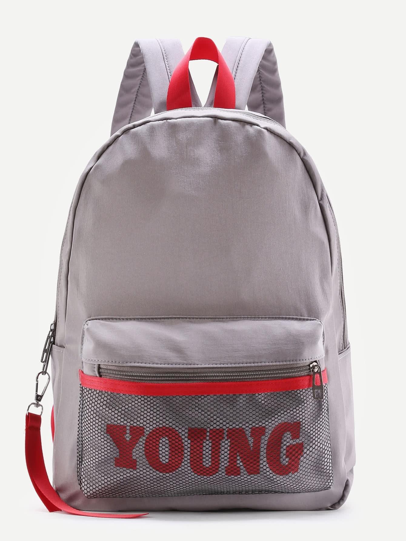 Фото Mesh Pocket Design Canvas Backpack. Купить с доставкой
