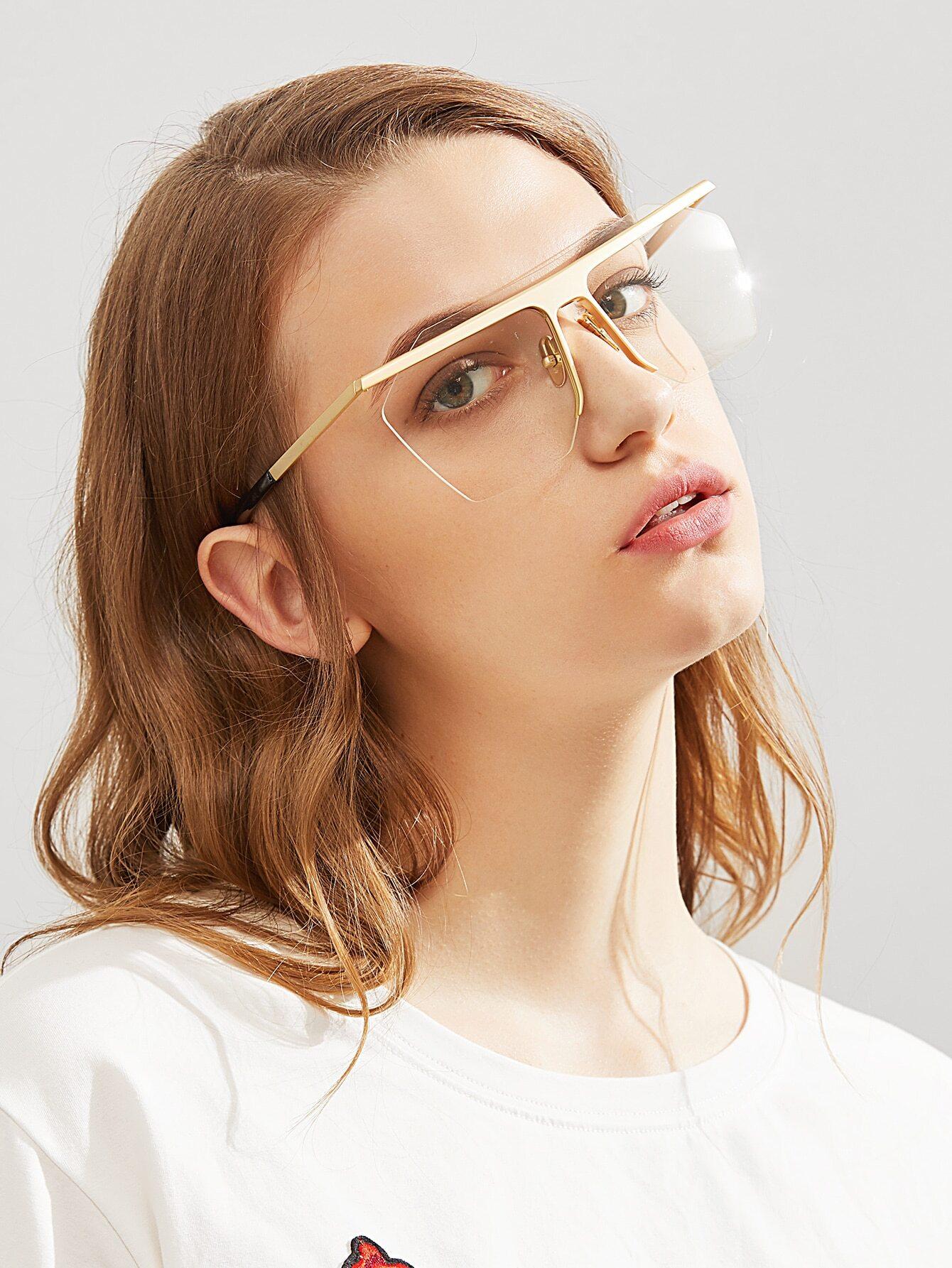 Contrast Frame Clear Lens Glasses sunglass170515303