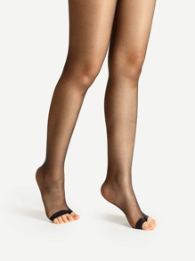Open Toe Sheer Tights