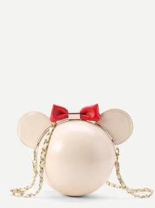 Mickey Shaped Design PU Crossbody Bag
