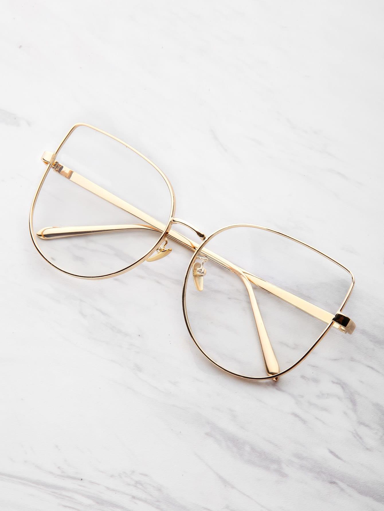 Фото Flat Lens Cat Eye Glasses. Купить с доставкой