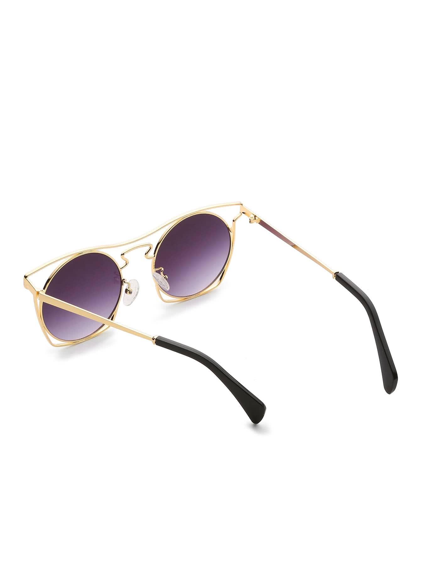 lunettes de soleil lunette ronde french shein sheinside. Black Bedroom Furniture Sets. Home Design Ideas