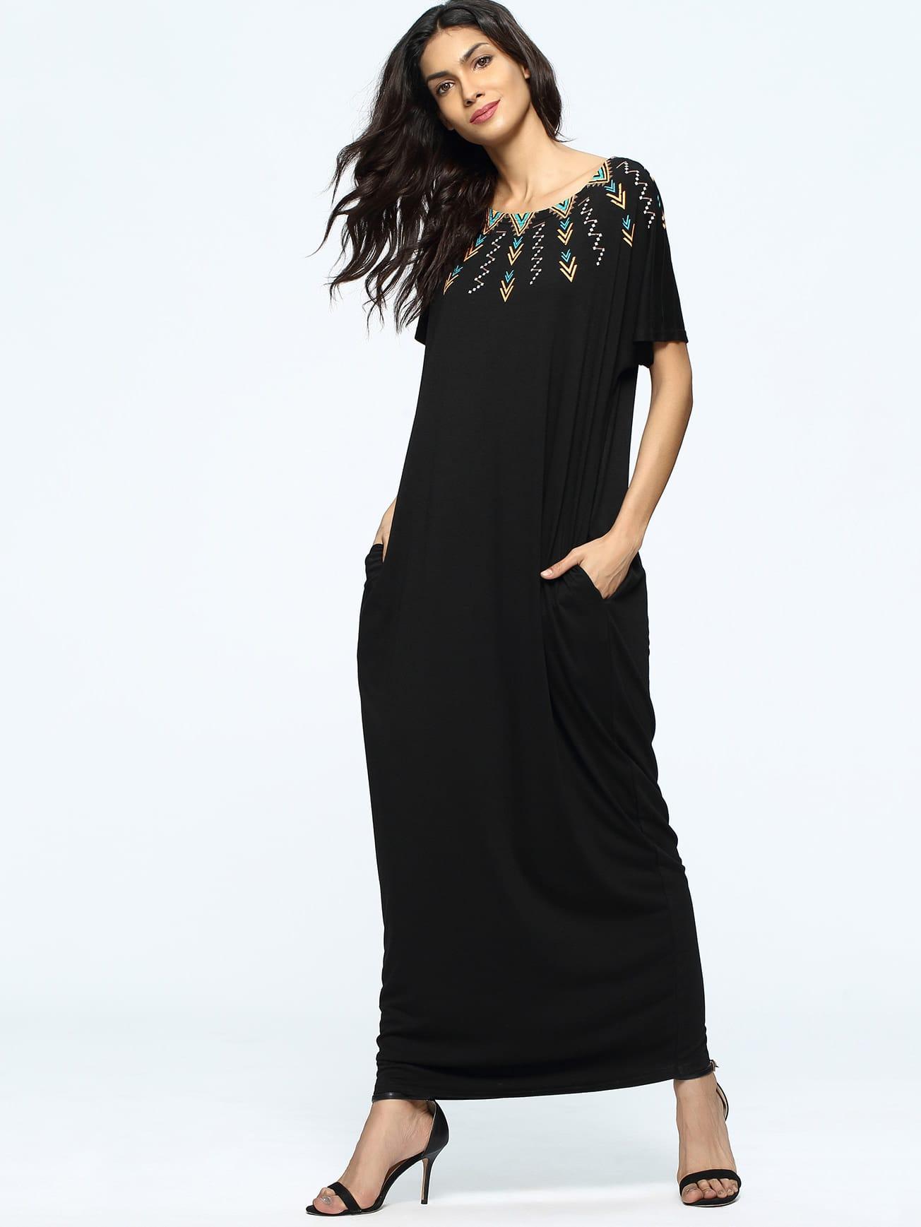 Фото Tribal Print Full Length Dress. Купить с доставкой