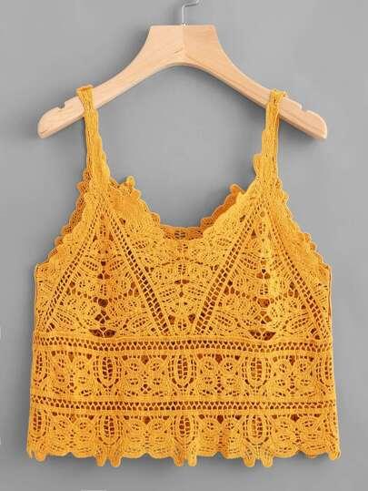 Crochet Lace Cami Top