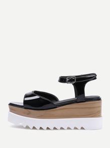 Sandales à talons hauts en cuir