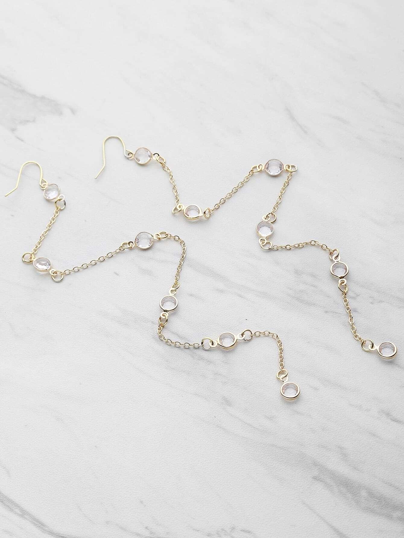 Фото Crystal Chain Drop Earrings. Купить с доставкой