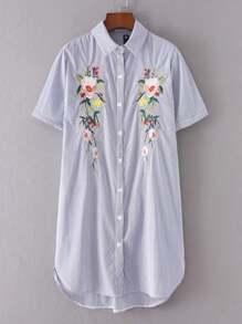 Vestito cammicetta a strisce verticale