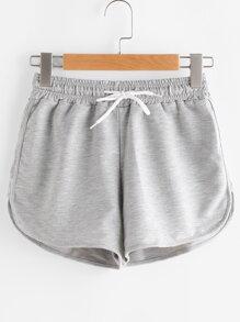 Shorts de dolfín de cintura elástica con cordón
