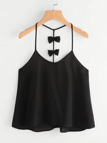 Camisole mit Gürtel und Y hinten