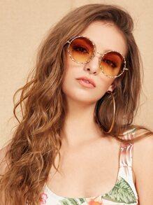 نظارة شمسية عدسة دائرية