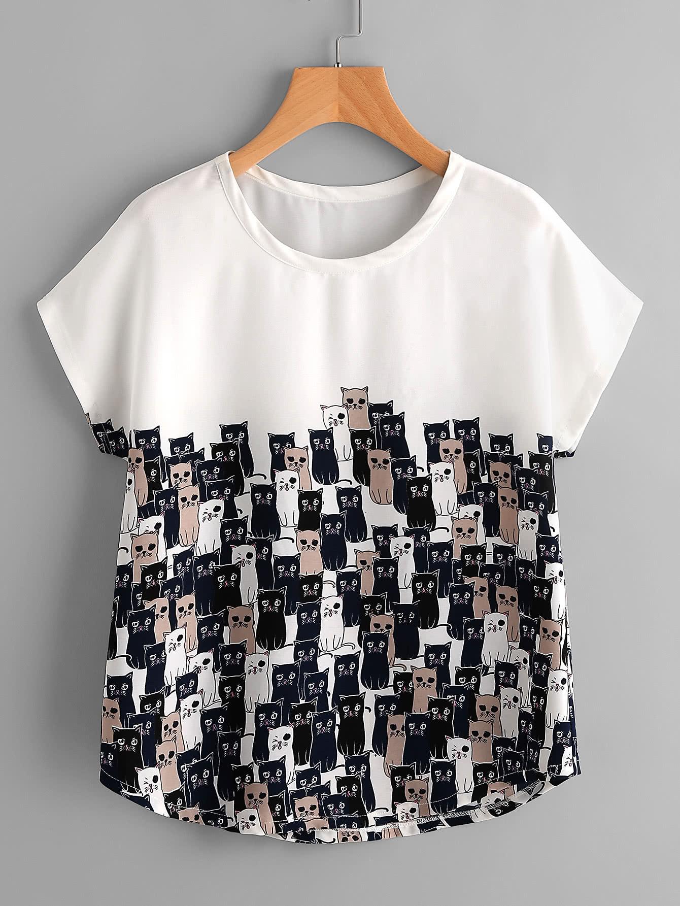Модная футболка с принтом SheIn