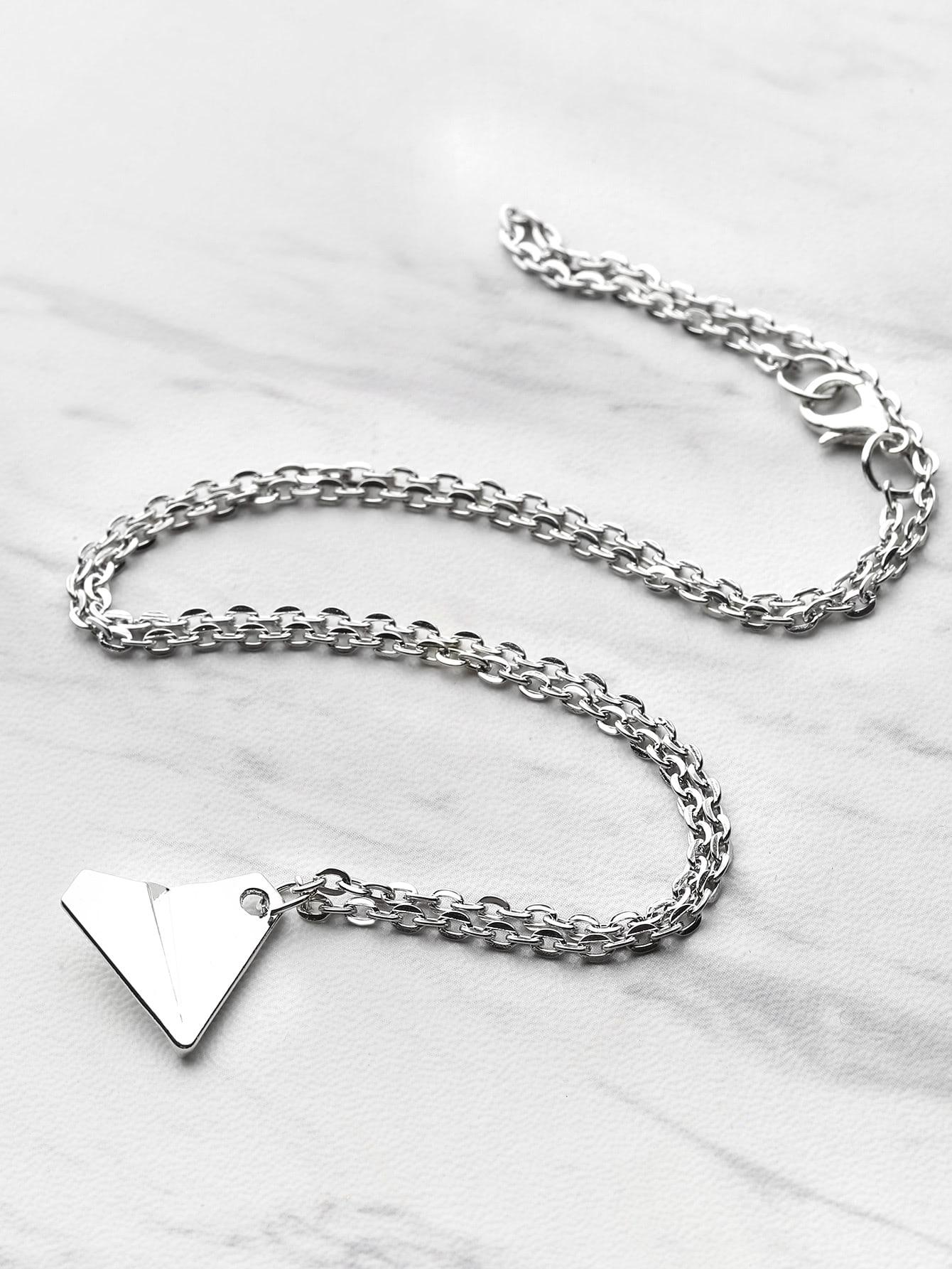 Фото Metal Airplane Pendant Necklace. Купить с доставкой