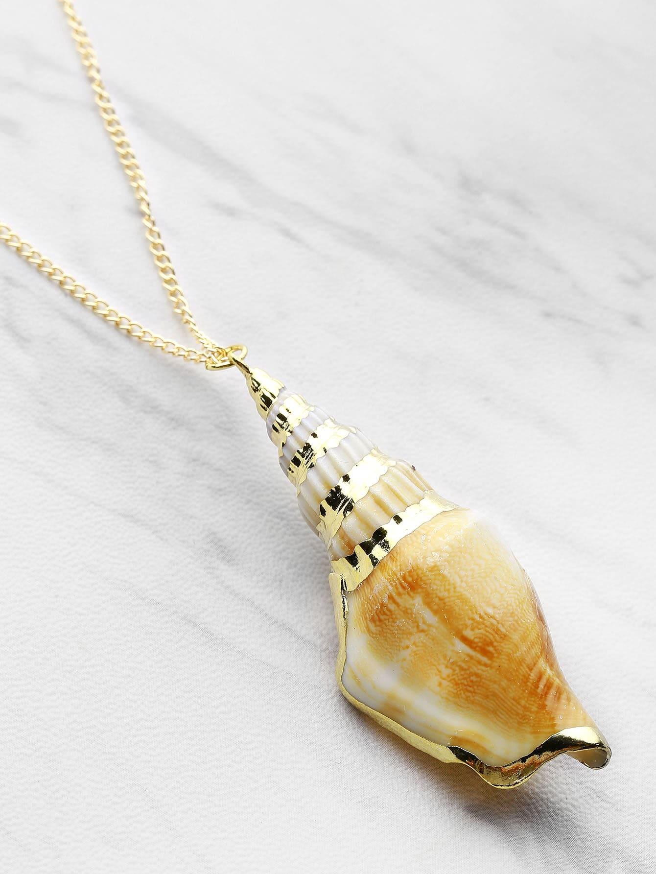 Фото Shell Pendant Chain Necklace. Купить с доставкой