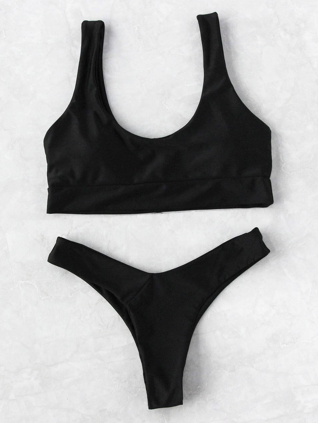 Фото Scoop Neck Beach Bikini Set. Купить с доставкой