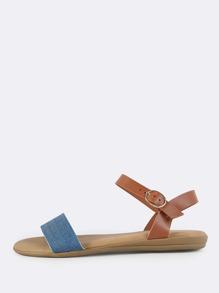 Denim Band Flat Sandals BLUE DENIM