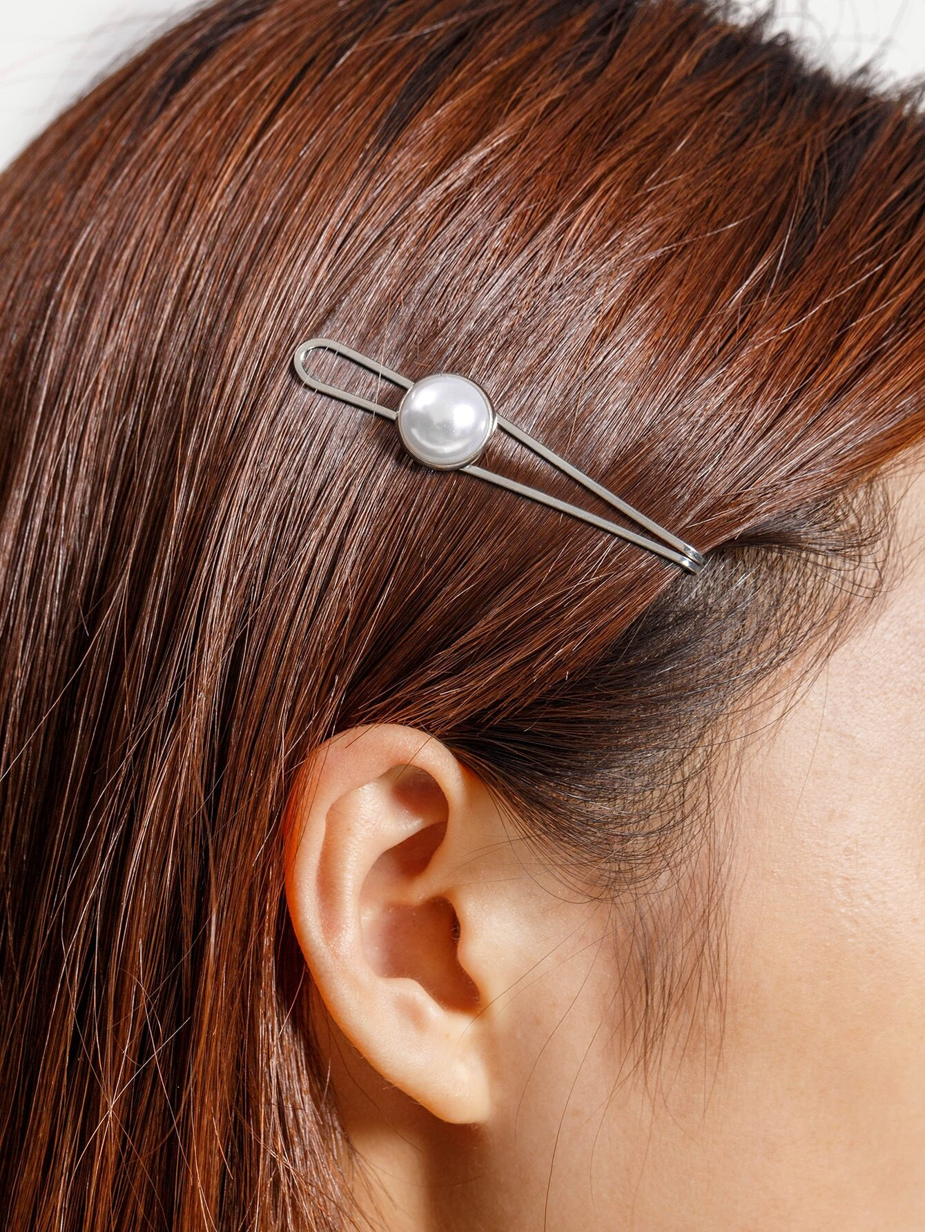Faux Pearl Decorated Hair Clip -SheIn(Sheinside)