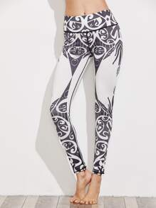 Leggings imprimé abstrait