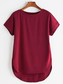 Camiseta asimétrica con bajo redondeado