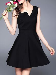 Irregularity Neck Backless A-Line Dress