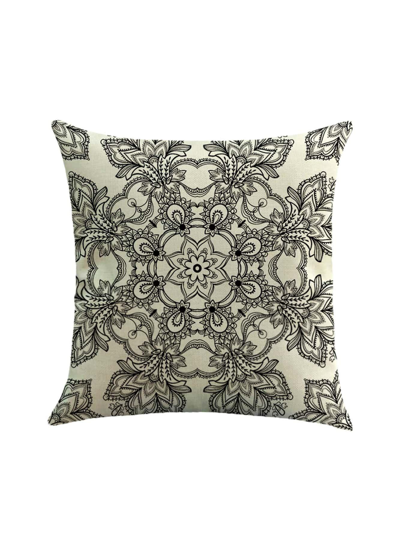Фото Geometric Calico Print Pillowcase Cover. Купить с доставкой