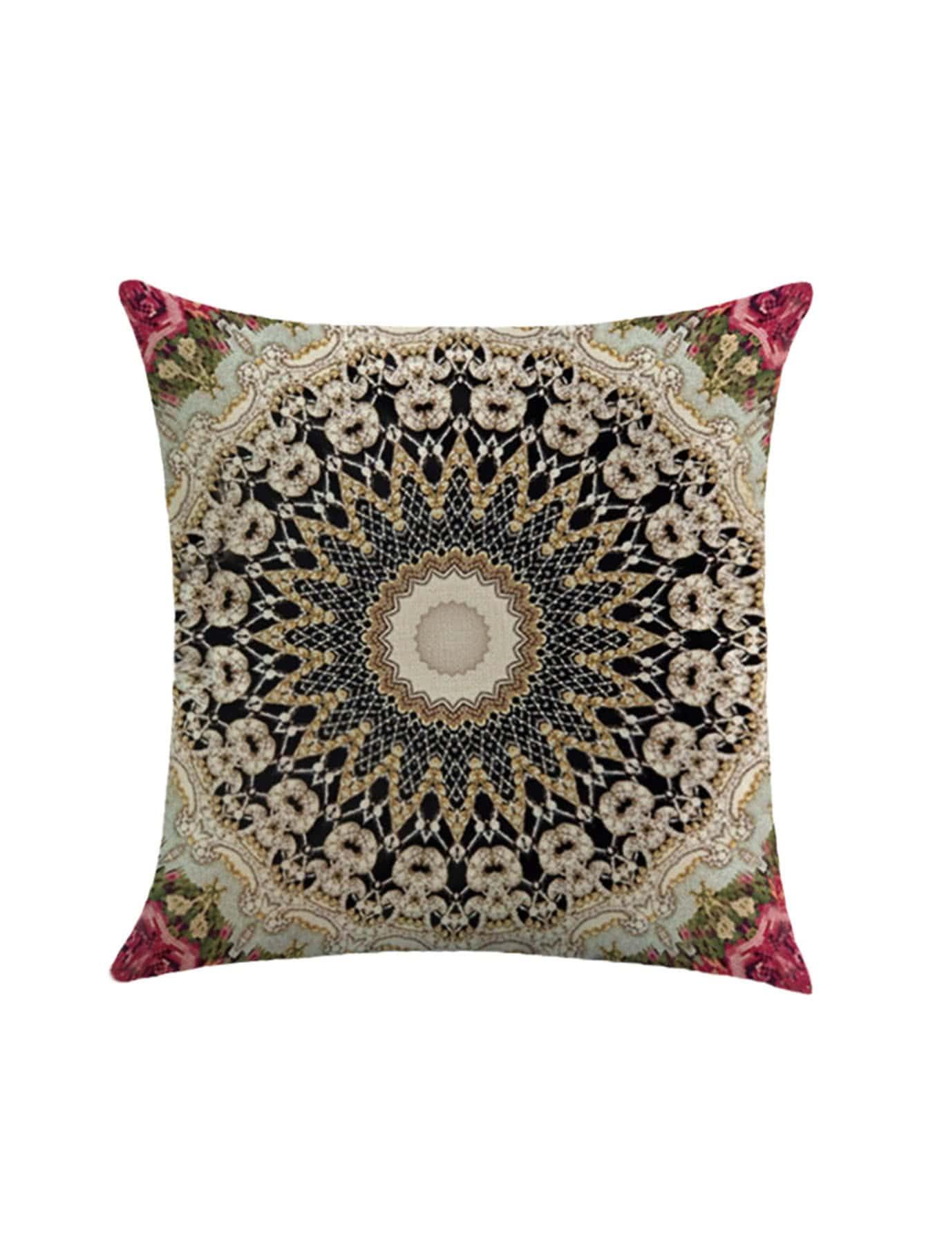 Фото Symmetrical Pattern Print Pillowcase Cover. Купить с доставкой