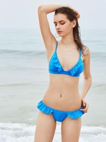 Sets de bikini triángulo fruncido
