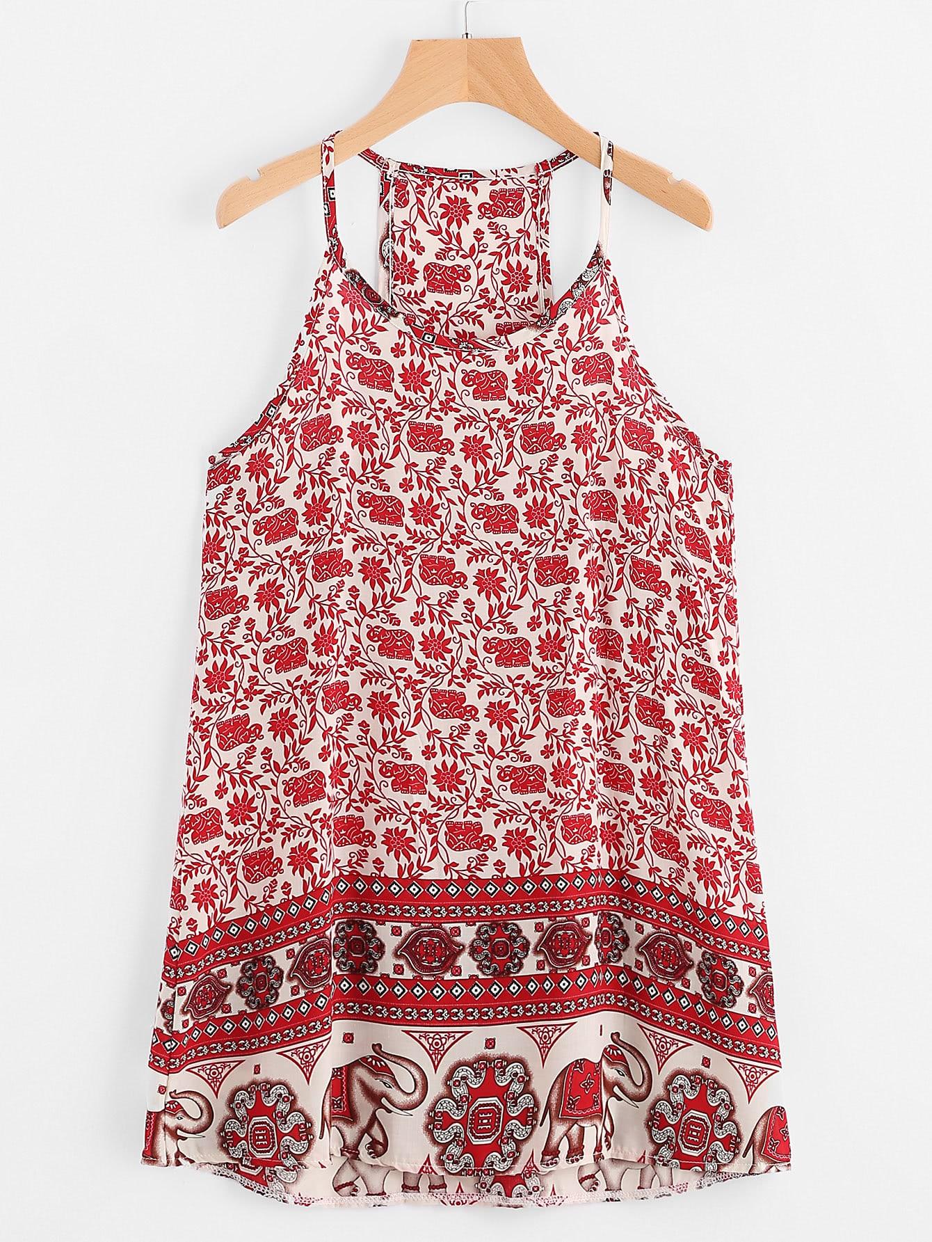 Фото Vintage Print Cami Dress. Купить с доставкой